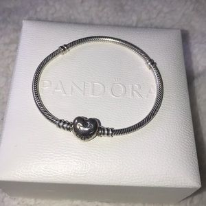 Heart Clasp Pandora Bracelet